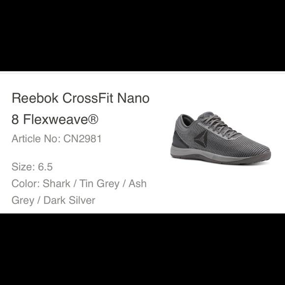 0e357a3dcf41 Reebok Crossfit Nano 8 Flexweave Women s 6.5. M 5c773700bb7615fa442499a2